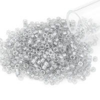 Miyuki Delica Seed Bead 11/0 Color Lined Light Grey (3 Gram Tube)