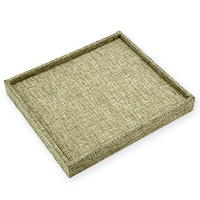 Burlap Ring Tray Jewelry Display- Holds 36 Rings
