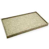 Burlap Ring Tray Jewelry Display- Holds 72 Rings