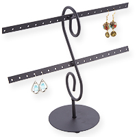 Metal Earring Rack Jewelry Display (Holds16 pairs)