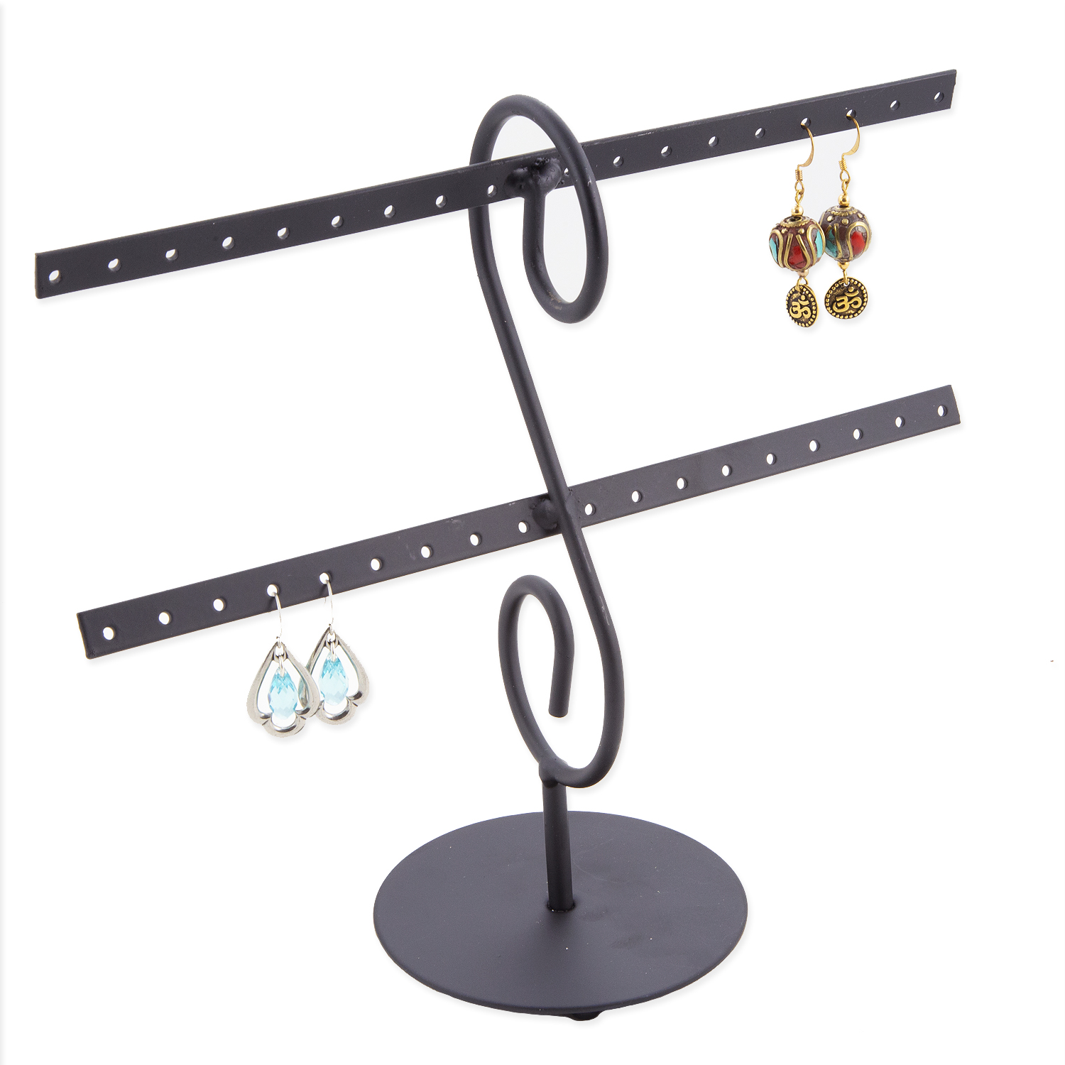 Metal Earring Rack Jewelry Display Holds16 Pairs