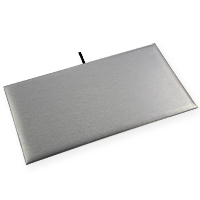 Standard Size Steel Grey Leatherette Display Pad