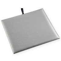 Half Size Steel Grey Leatherette Display Pad