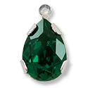 Swarovski Pear Shape Drop 14x10mm Emerald Rhodium Plated (1-Pc)