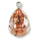 Swarovski Pear Shape Drop 14x10mm Vintage Rose Rhodium Plated (1-Pc)