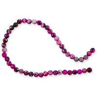10 Strands of Dyed Agate Mix Round Faceted Beads 4mm Pink (16