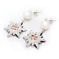 Swarovski Edelweiss Earrings