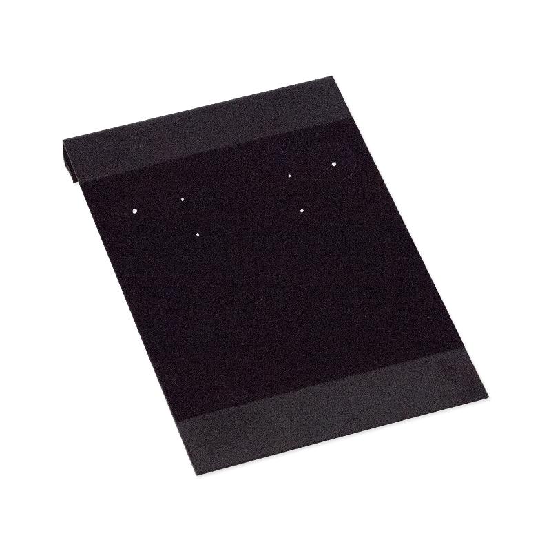 Hanging Earring Card Black Flock 2x3