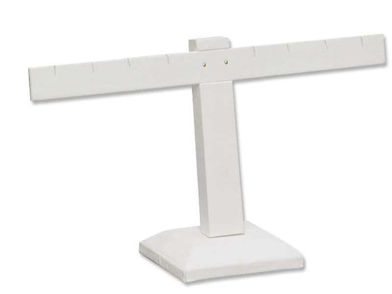White Earring Stand T Bar 4 Pairs
