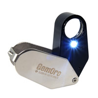 GemOro LightLoupe Eye Loupe w/LED Light 10X