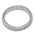 Expansion Stretch Bracelet Finding 2-Row Stainless Steel (1-Pc)