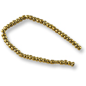 Fulani Tribe Seed Beads 4mm Opaque Bronze (22