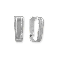 Snap On Bail 6x2mm Silver Color (10-Pcs)
