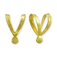 Split Bail with Tab 10x7mm Gold Color (1-Pc)