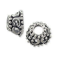 Designer Bali-Style Bead Cap 11x5.5mm Nickel Silver (1-Pc)