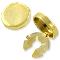 Button Cover 18mm Gold Plated (1-Pc)