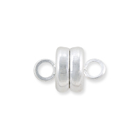 Magnetic Clasp 9x5.5mm Silver Plated (1-Pc)
