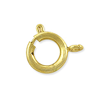Spring Ring Clasp 12mm Satin Hamilton Gold Plated Open Ring (1-Pc)