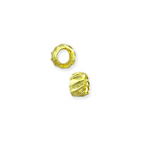 Corrugated Crimp Bead 1.5x2mm Gold Color (100-Pcs)