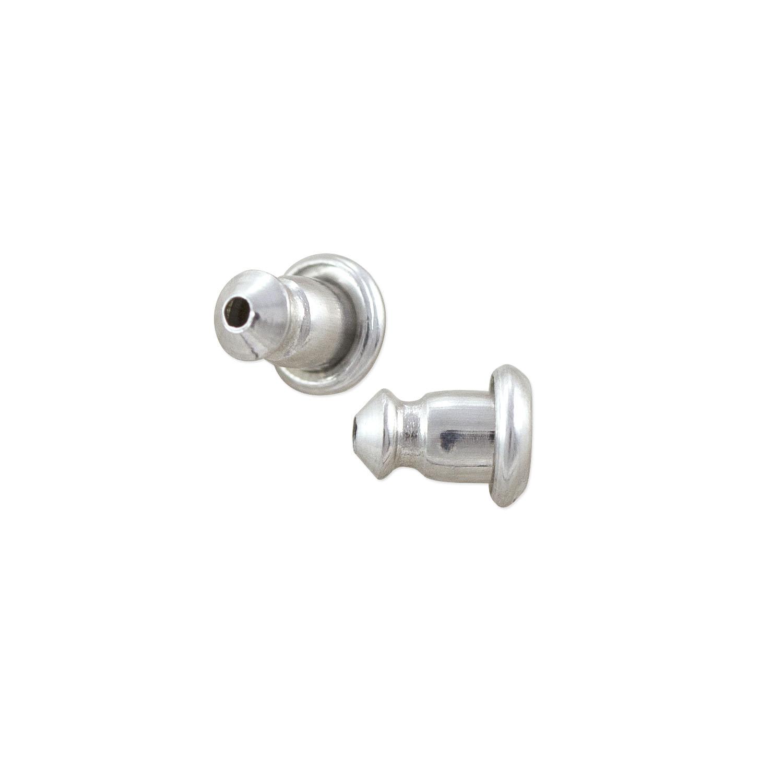 Earring Back 7.5x4mm Silver Color | earring supplies online | Jewelry  Earring Findings in Bulk