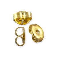 Ear Back 2.5x4mm Gold Plated (10-Pcs)