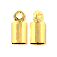 End Cap 10x4mm Gold Plated (2-Pcs)