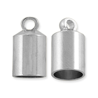 End Cap 12x7mm Silver Color (2-Pcs)