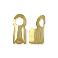 Fold Over Connector 8.5x4mm Gold Plated (10-Pcs)