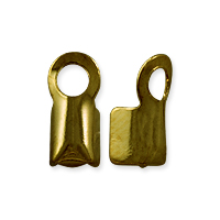 Fold Over Connector 8.5x4mm Antique Brass Plated (10-Pcs)