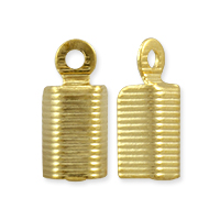 Corrugated Fold Over Connector 11x5mm Gold Plated (10-Pcs)