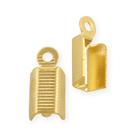 Connector - Fold Over Rib 5x11mm Gold Plated (10-Pcs)