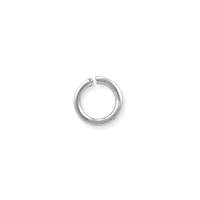 Open Round Jump Ring 4.5mm Silver Plated (100-Pcs)