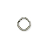 Round Open Jump Ring 5.5mm Antique Silver Plated (100-Pcs)