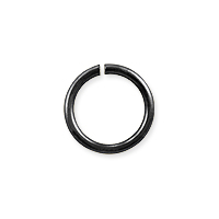 Open Round Jump Ring 8mm Gun Metal Plated (50-Pcs)