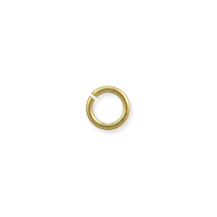Open Round Jump Ring 4.4mm Satin Hamilton Gold Plated (100-Pcs)