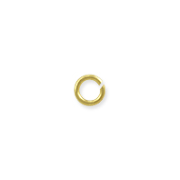 Open Round Jump Ring 3.3mm Gold Color (100-Pcs)