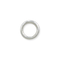 Closed Round Jump Ring 6mm Silver Plated (5-Pcs)