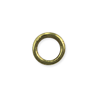 Closed Round Jump Ring 6mm Antique Brass Plated (5-Pcs)