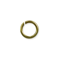 Round Open Jump Ring 5.5mm Antique Brass Plated (100-Pcs)