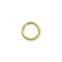 Round Open Jump Ring 5.8mm Satin Gold Plated (50-Pcs)