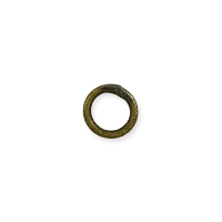 Closed Round Jump Ring 4.6mm Antique Brass Plated (10-Pcs)