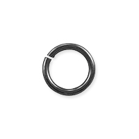 Open Round Jump Ring 7.5mm Gun Metal Plated (50-Pcs)
