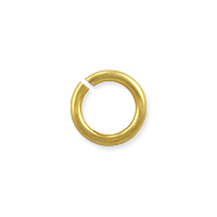 Open Round Jump Ring 7mm Gold Color (50-Pcs)