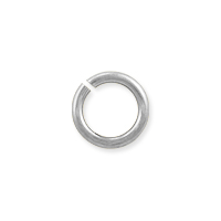 Open Round Jump Ring 7mm Silver Color (50-Pcs)