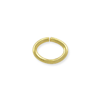 Open Oval Jump Ring 7x5mm Gold Plated (10-Pcs)
