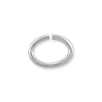 Open Oval Jump Ring 8x6mm Silver Plated (50-Pcs)