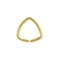 Open Triangle Jump Ring 7mm Gold Plated (10-Pcs)