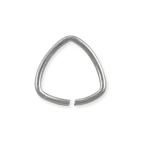 Open Triangle Jump Ring 10mm Silver Plated (10-Pcs)