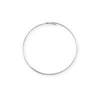 Wire Hoop ¾ Inch Silver Plated (6-Pcs)