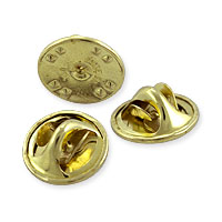 Butterfly Clutch Pin Backs Gold Color (10-Pcs)